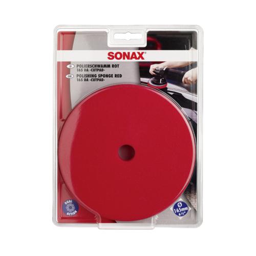SONAX Polierschwamm rot 165 Dual Action Fahrzeugshine Polierpad