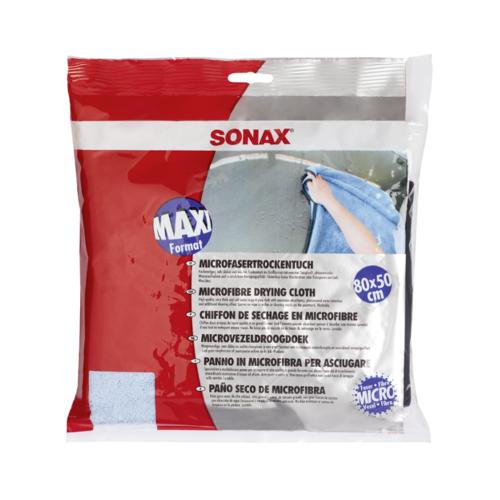 SONAX MicrofaserTrockenTuch 80x50 Fahrzeugshine Mikrofasertuch