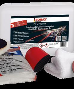 Sonax Profiline Scheinwerferaufbereitungsset Fahrzeugshine