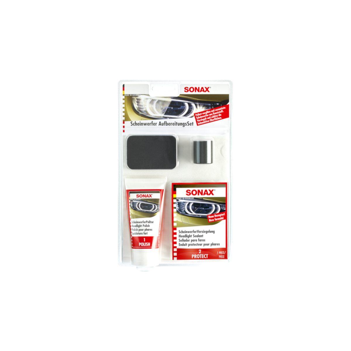 Sonax Scheinwerfer Aufbereitungsset Fahrzeugshine Scheinwerfer aufbereiten