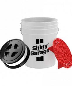Shiny Garage Wascheimer mit Sieb Autowäsche Fahrzeugshine