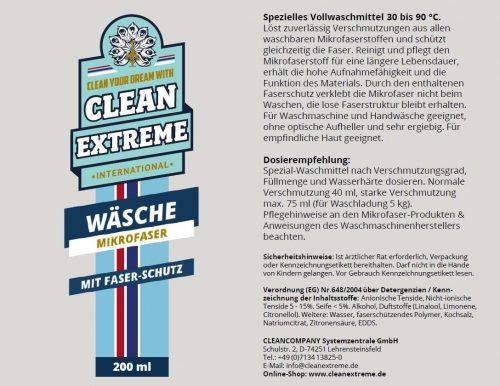 Cleanextreme Mikrofaser Waschmittel Waschmittel Fahrzeugshine