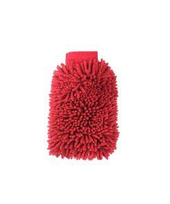 Microfaser Waschhandschuh XL beidseitig rosarot Waschhandschuh Fahrzeugshine