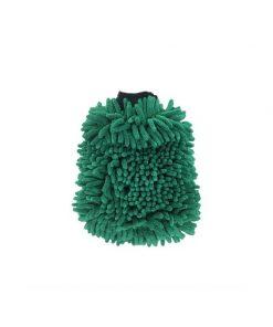 Microfaser Waschhandschuh XL beidseitig dunkelgrün Waschhandschuh Fahrzeugshine