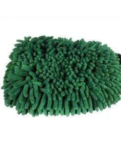 Microfaser Waschhandschuh XL beidseitig dunkelgrün Waschhandschuh 1 Fahrzeugshine