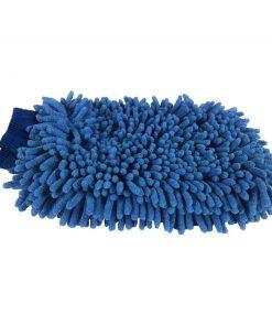 Microfaser Waschhandschuh XL beidseitig dunkelblau Waschhandschuh Fahrzeugshine
